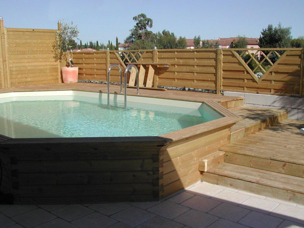 piscine en bois semi enterr e plage piscines et jacuzzi. Black Bedroom Furniture Sets. Home Design Ideas